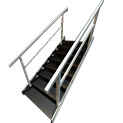 Leaner Stairs with Handrail
